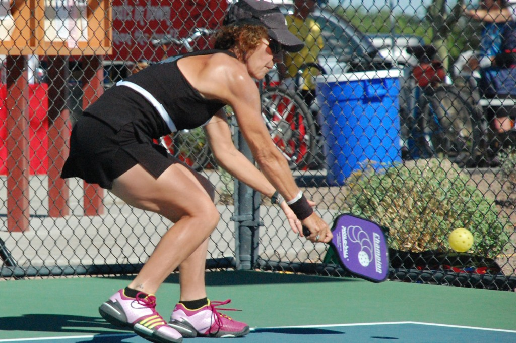 Barbara Wintroub Playing Pickleball